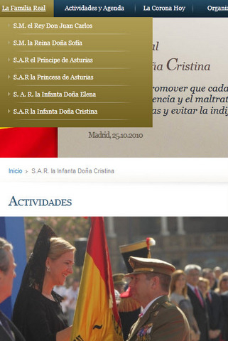 The Duke of Palma is removed from the Spanish Royal family website