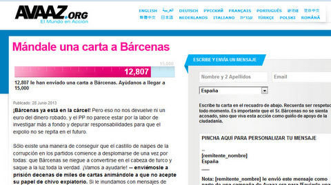 More than 12,000 people send a letter to Luis Barcenas