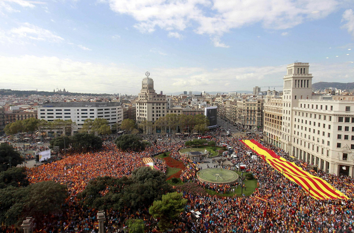 Pro-Spanish demonstrations in Cataluña