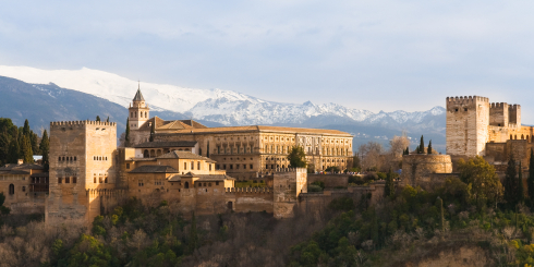 The City of Granada and Alhambra