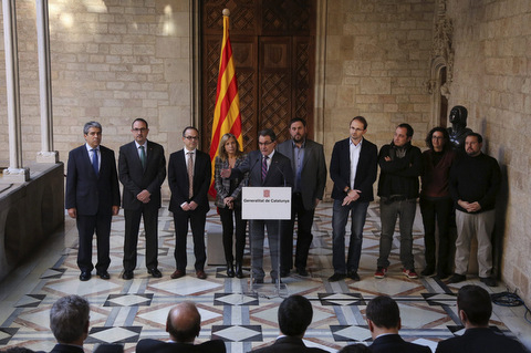Catalan leaders set date for vote on independence