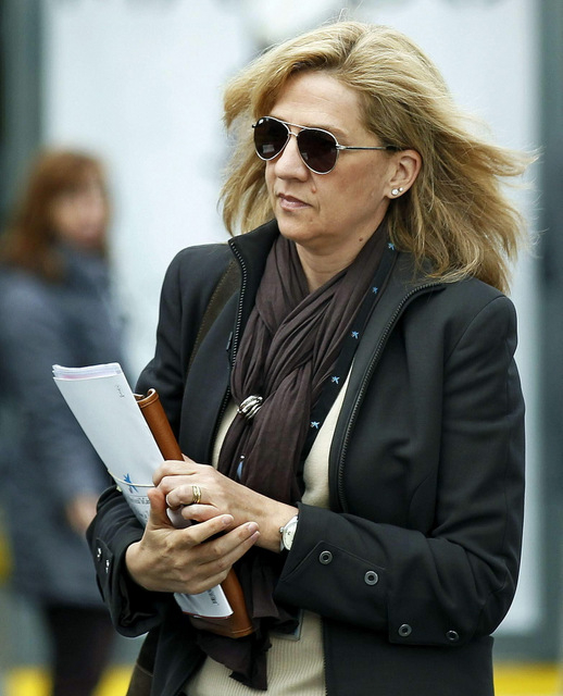 Princess Cristina of Spain in court