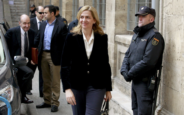Unauthorised video of Princess Cristina in court appears in Spanish media