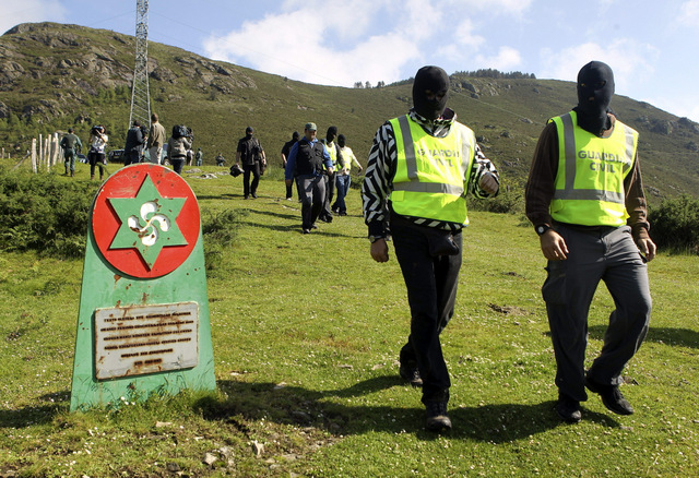 ETA memorial foresters arrested in the Basque Country
