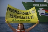 Greenpeace campaign against oil prospecting off Andalucian and Canary Islands coastline