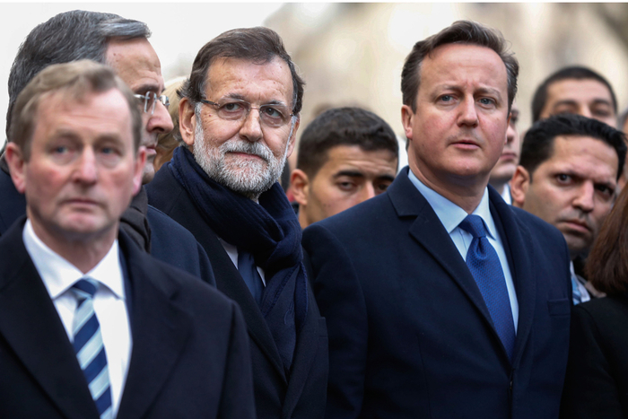 Spanish president joins European leaders in Paris united by rejection of terrorism