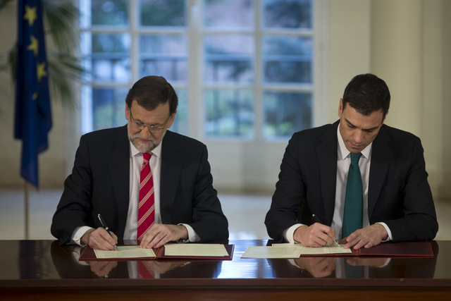 Spanish political leaders take joint anti-terrorism stance