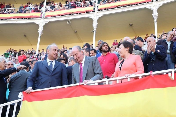 Former King of Spain at Madrid bullfights