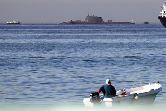 Ecologists protest as British nuclear submarine docks in Gibraltar