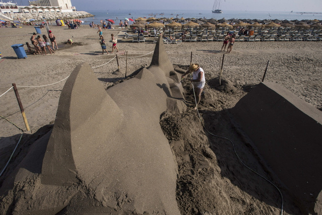 100-ton sand shark on Benalmádena beach Málaga