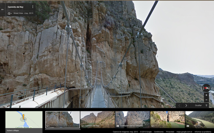 Google Streetview takes readers to scary new heights along the Caminito del Rey
