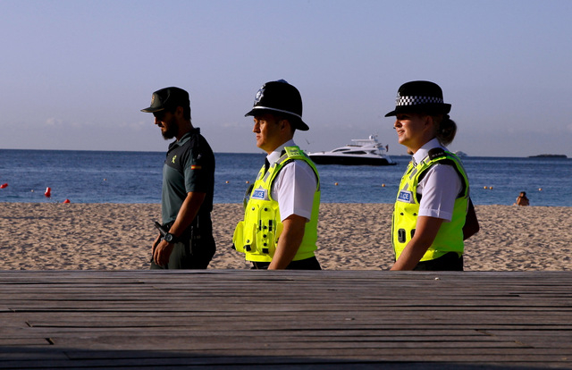 British bobbies feel the heat on the beat in sunny Spain
