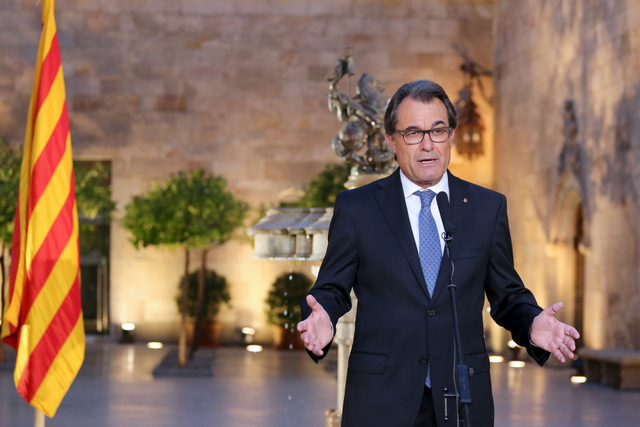 Artur Mas says Catalonia faces a wall of Spanish indifference