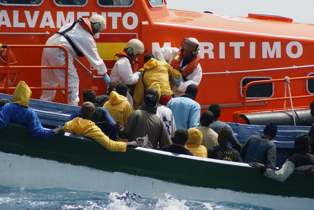 African immigrants intercepted off Almería