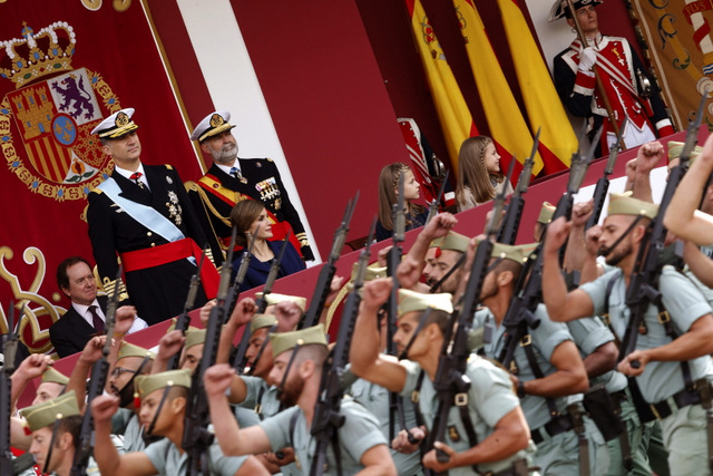 Annual military parade marks national holiday on 12th October