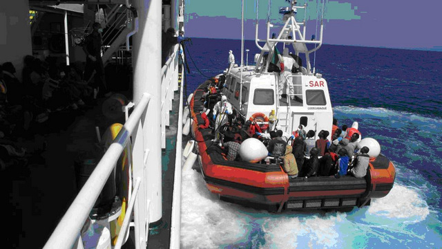 Spanish navy rescues 268 immigrants from Mediterranean