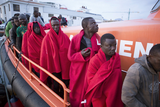 African immigrants intercepted off the Almería coast