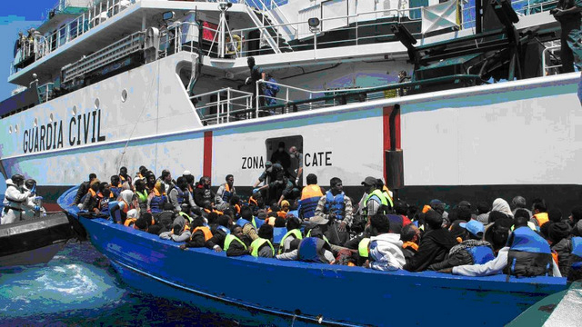 3,592 illegal migrants arrived in Spain via sea during 2015