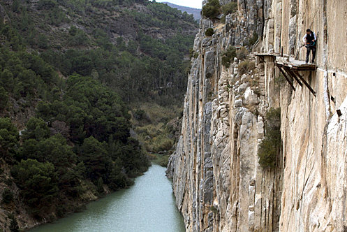 The Caminito del Rey in Malaga celebrates the anniversary of its reopening
