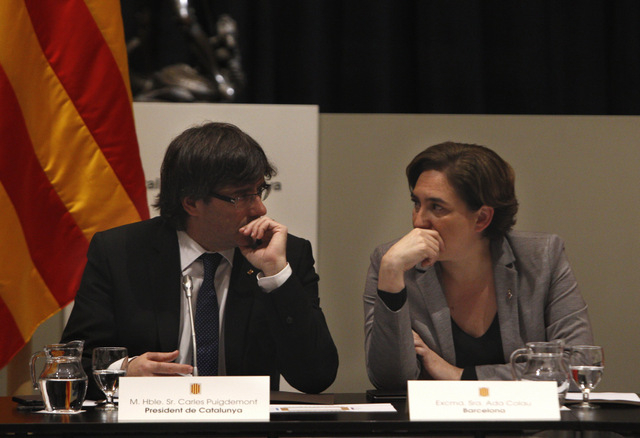 Barcelona Mayoress and Catalan president unite against the Spanish government