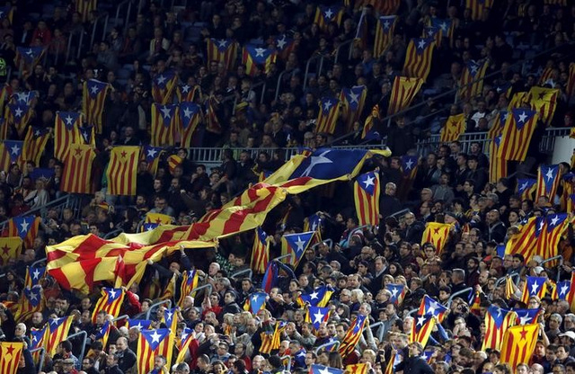 Barcelona condemn nationalist flag ban for Cup final on Saturday