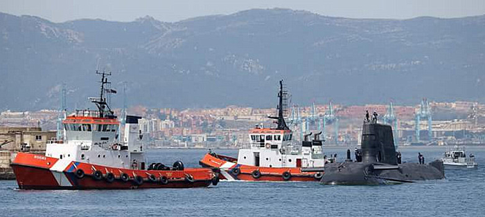 Spanish media irritated by presence of British nuclear submarine in Gibraltar