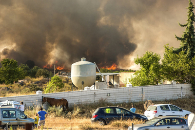 Wild fires across Spain as July heatwave continues