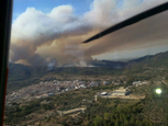 Wild fire rages in the province of Castellon