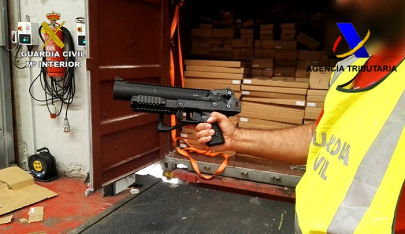 809 US-bound firearms seized at the port of Algeciras