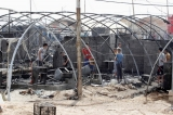More than 70 tents burned down in Iraqi refugee camp
