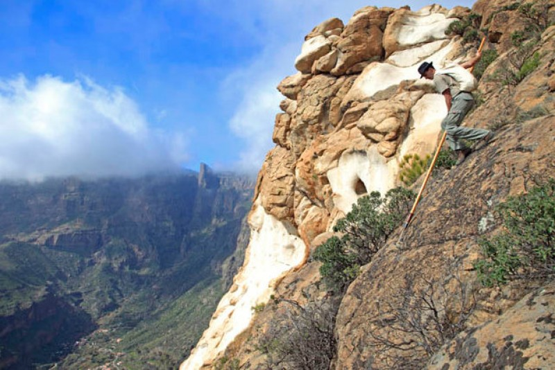 Canaries man dies while performing the shepherd's leap