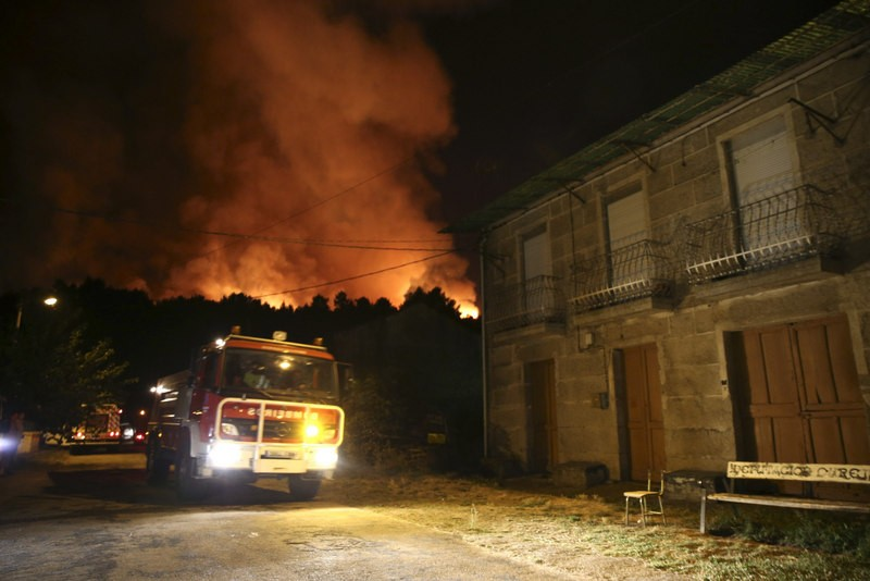 40 wild fires throw the province of Ourense into chaos