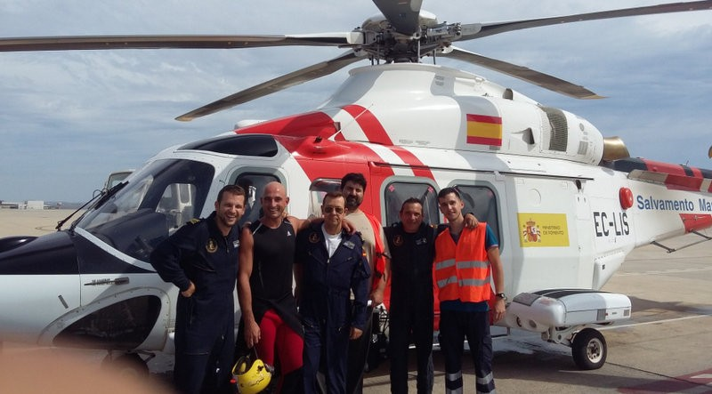 Immigrant gives birth in Almeria after breaking waters on rescue helicopter