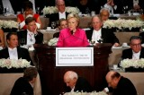 Trump and Clinton tension seeps into jokes at annual charity dinner