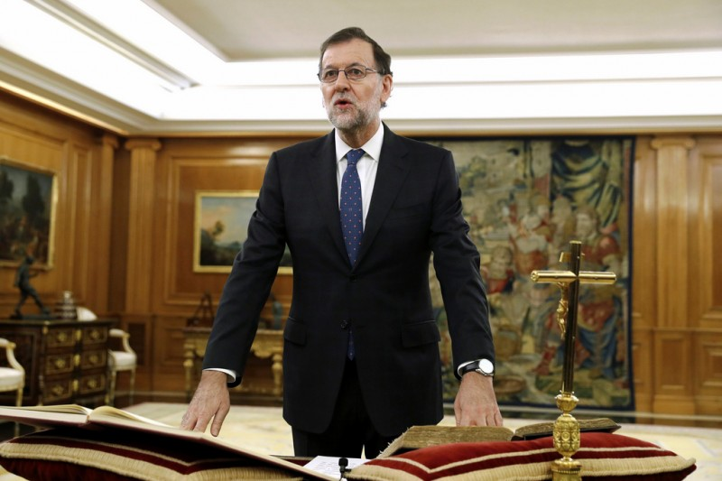 Rajoy sworn in as Prime Minsiter of Spain for second term