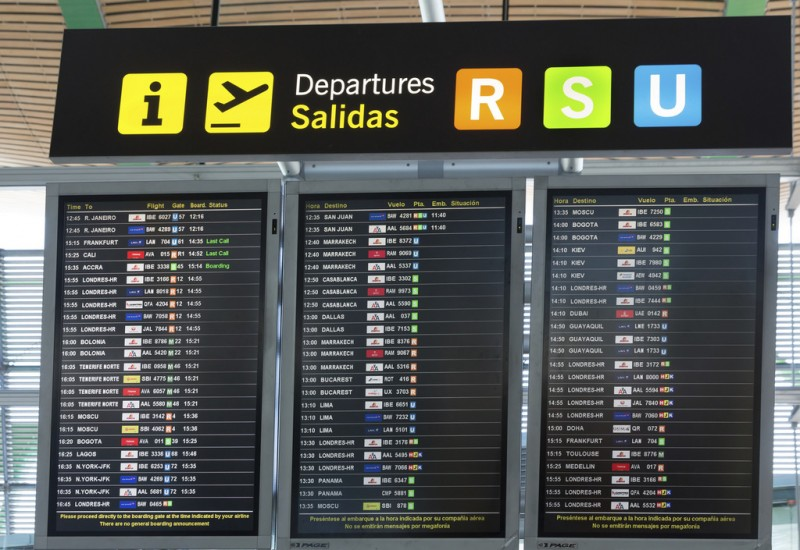 21.4 million travellers used Spanish airports during October