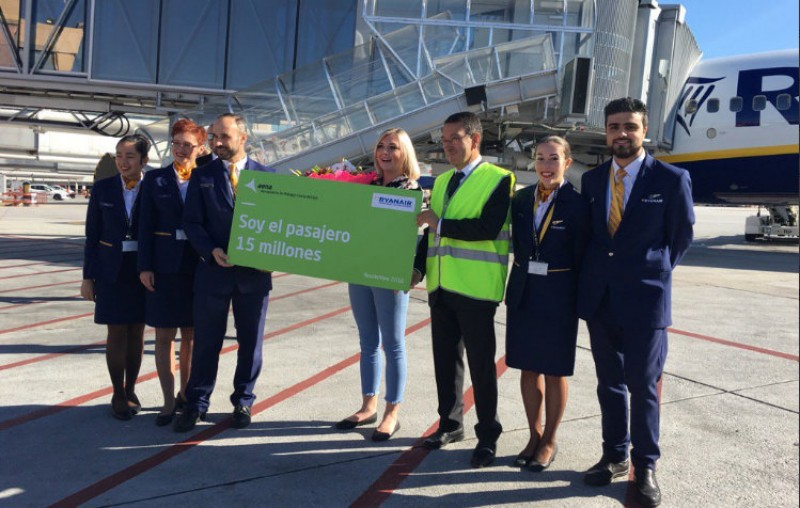 Malaga airport welcomes 15 millionth passenger in 2016