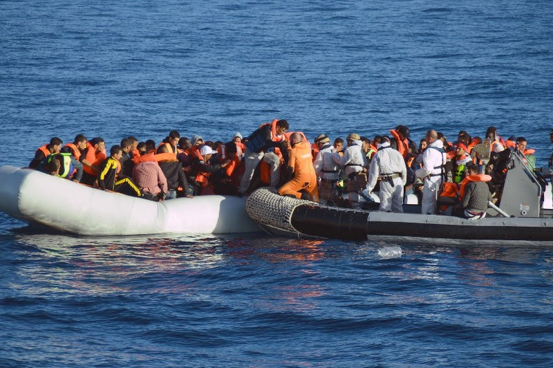 Spanish navy frigate picks up 369 migrants off the coast of Libya