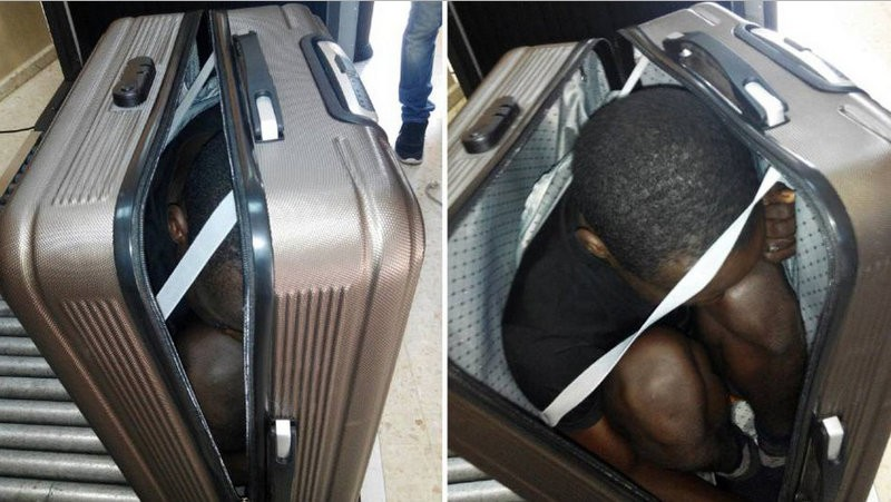 Suitcase immigrant intercepted by Ceuta border guards