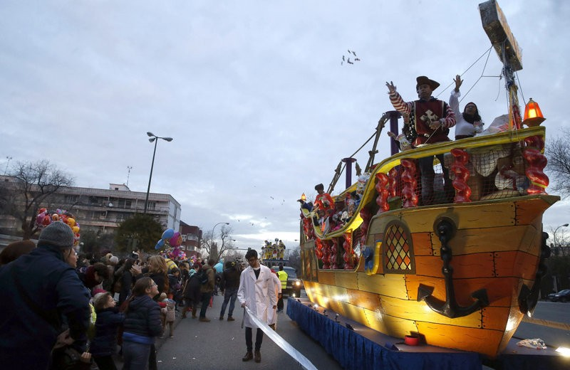 Security tightened as Three Kings arrive in Madrid
