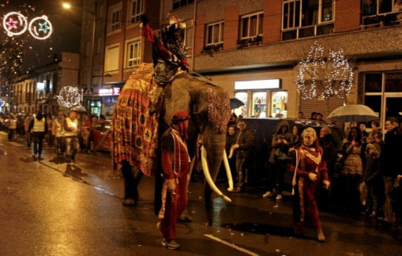 4-ton elephant stars in Asturias Three Kings parade