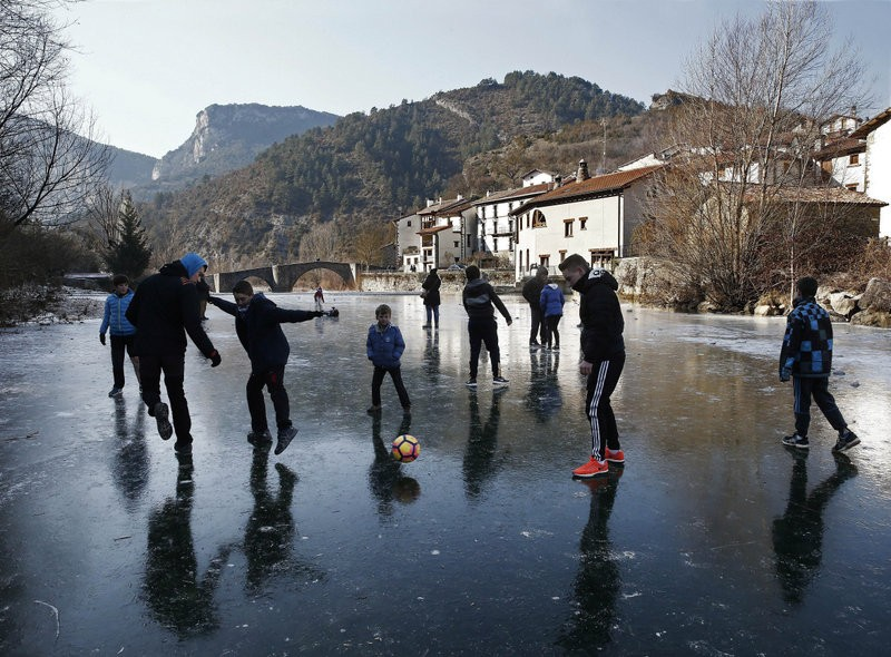 Northern Spain in the grip of cold weather