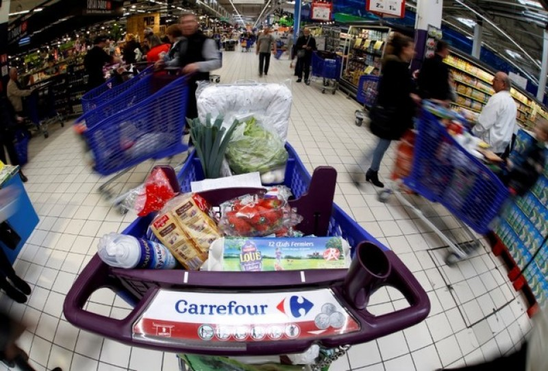 Retailer Carrefour fourth quarter sales growth slows as France lags