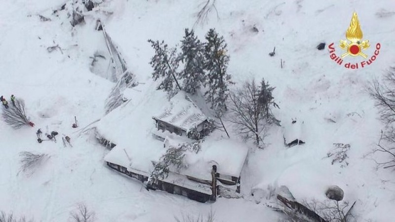 Avalanche hits Italian hotel with many feared dead under snow