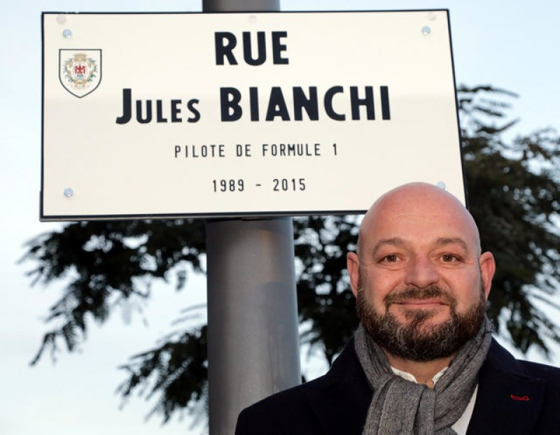 Nice names a street after late F1 driver Bianchi