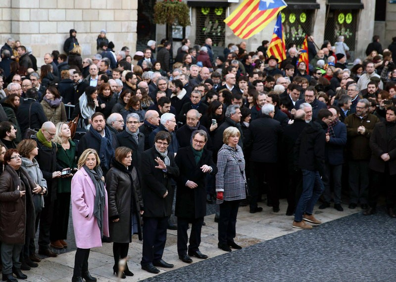 Massive support for former Catalan president as trial begins in Barcelona