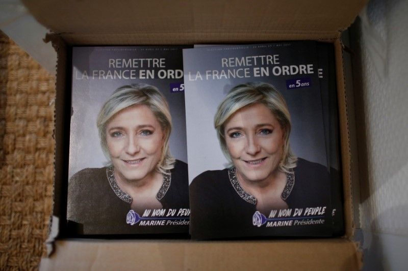Polls show French far-right Le Pen winning election first round, but losing knockout