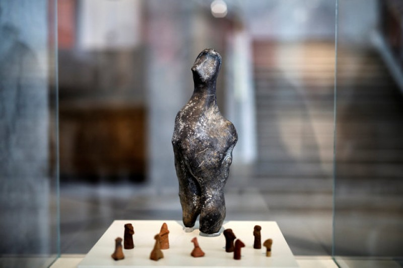 7,000-year old mystery statue goes in display in Athens