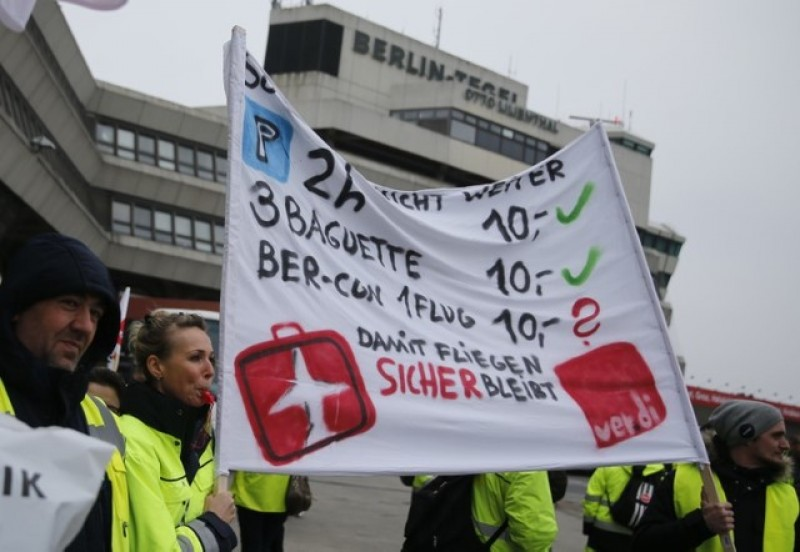 Strike by Berlin ground staff prompts 200 flight cancellations