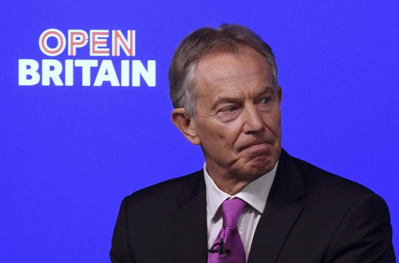 Former PM Blair urges Britons to rise up against May's Brexit plan